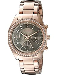 Caravelle New York Womens 44L195 Analog Display Quartz Rose Gold Watch