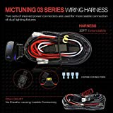 MICTUNING LED Light Bar Wiring Harness 40Amp