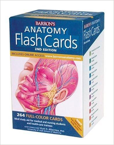 Barron\'s Anatomy Flash Cards, 2nd Edition: 9780764161599: Medicine ...