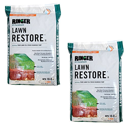 Safer Brand Ringer Lawn Restore, Lawn Fertilizer, 25 Pounds - 2 Pack