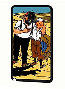 For Teen Girls Hispter Style Cover TinTin Disney Cartoon Movie Picutres For Samsung Galaxy Note 4 Funda Anti Scratch Protective Skin Shell