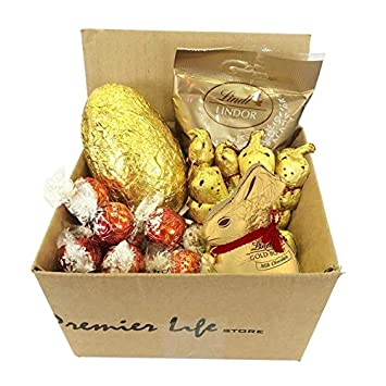 Amazon lindt easter gift set with lindt mini eggs bunny lindt easter gift set with lindt mini eggs bunny truffles bears and milk negle Image collections