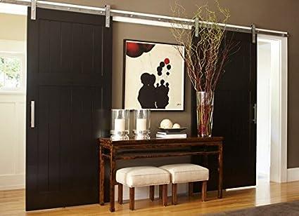 Amazon BDFSS Satin Nickel Brushed Stainless Steel Sus48 Fascinating Bathroom Sliding Door Designs Plans