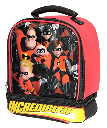 The Incredibles 2 Lunch Box Insulated Dual Compartment Lunch Bag Kit