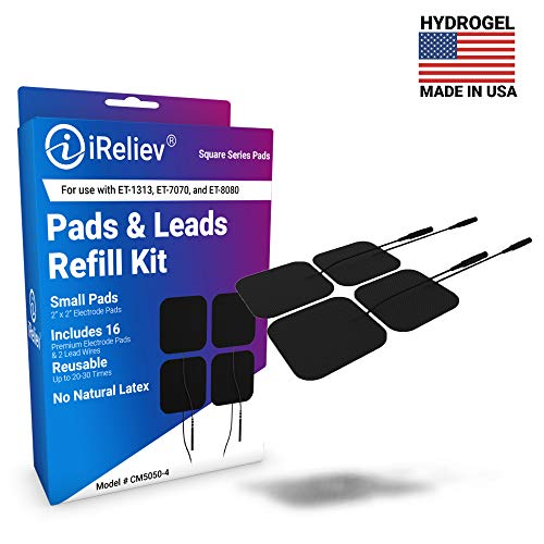 iReliev Electrodes 4 Piece with 2 Lead Wires, 6.4 Ounce