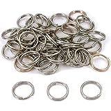 50 Nickel Plated Split Rings 16mm 5/8