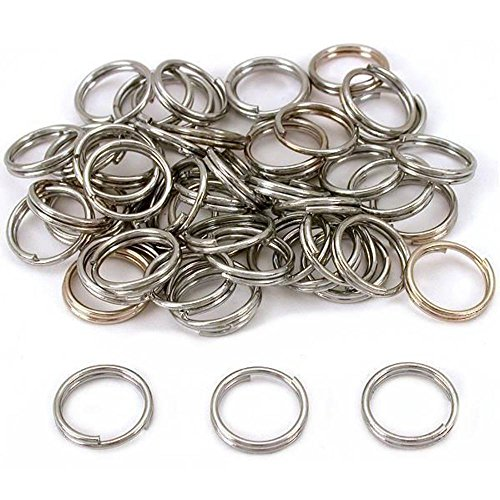 50 Nickel Plated Split Rings 16mm 5/8