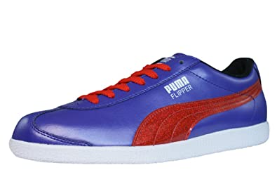 PUMA Flipper Glitter Womens Leather SneakersShoes Violet