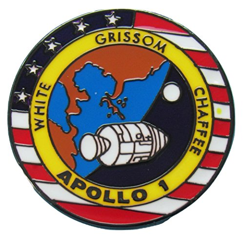 Apollo 1 Lapel Pin Official Nasa Edition Space Program White Grissom ()