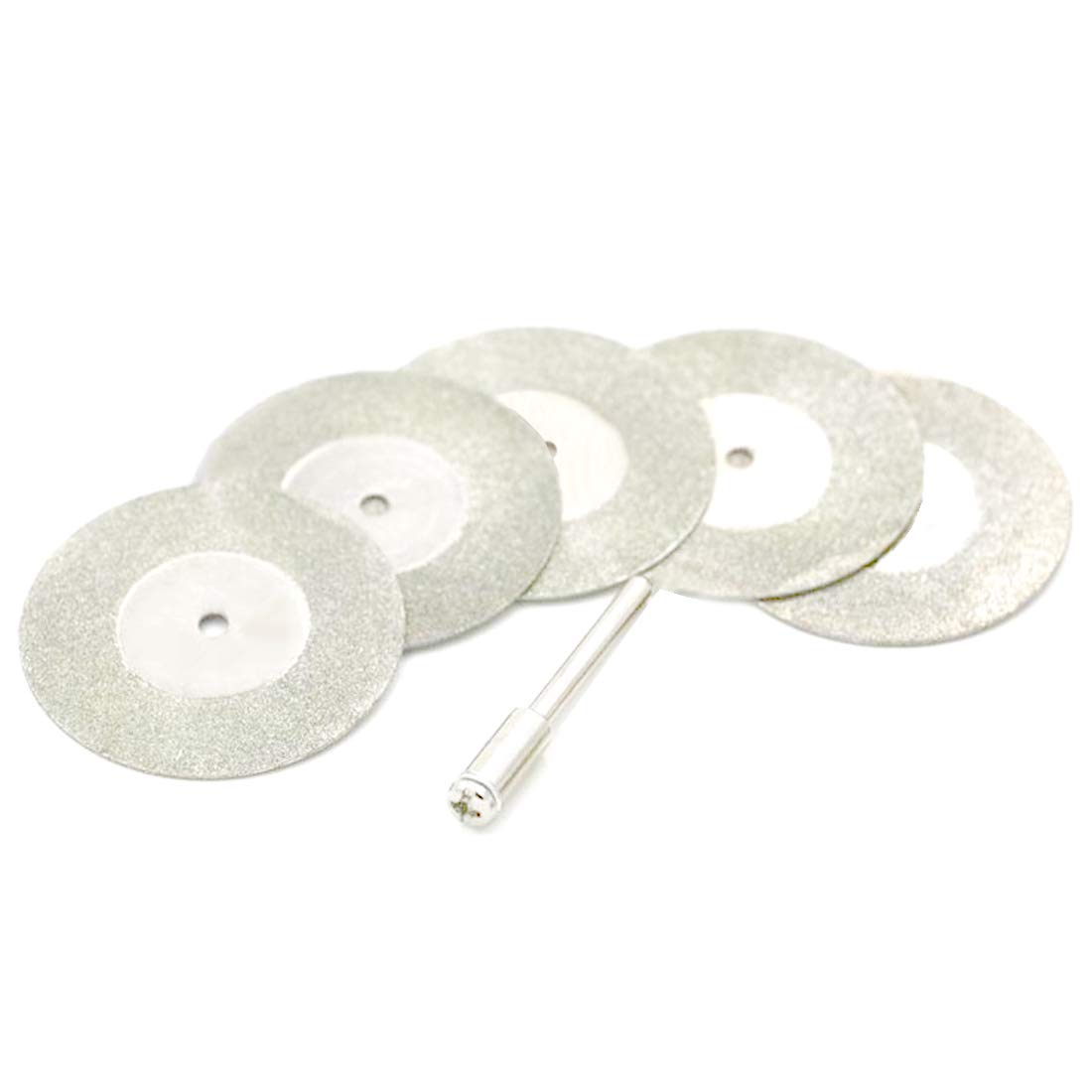 5pcs 16mm Cutting Disc Diamond Grinding Sharpener Abrasive Disks Compatible with 1pc Connecting Shank Compatible for Dremel Rotary Tools 91ai-store