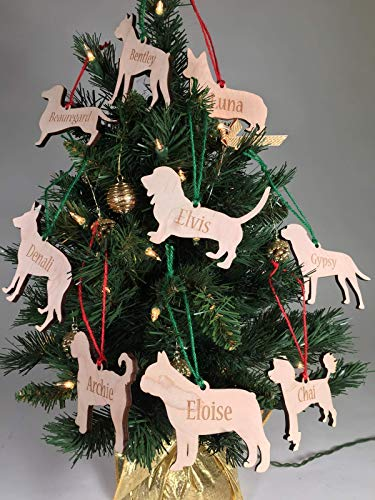 Personalized Wood Dog Ornament