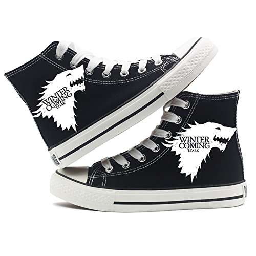 Sneakers Song Ice 1 Thrones Shoes Black White A Black and Canvas Shoes Game of Fire of gnTqUnPx4