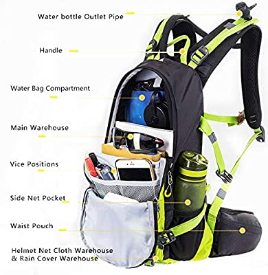 Toursion Hydration Backpack Pack with 2L Leak-Proof Water Bladder, 20L Waterproof Lightweight Breathable Hiking Daypack, for Music Festival, Running, Hiking, Cycling, Marathon, Camping, Biking.