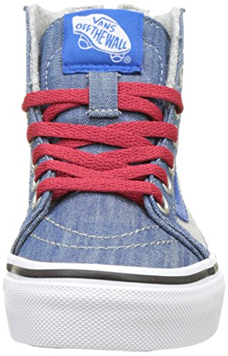 Vans Uy Sk8-Hi Zip, Zapatillas Altas para Chico Azul (Jersey And Denim Imperial Blue/true White)