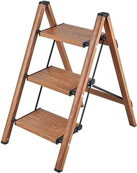 SED Escaleras de Mano Multiusos para el Hogar, Escalera Interior Taburetes para Sillas Escalera Escalera de Tres Escalones Escalera Antideslizante Escalera Plegable Escasa Aleación de Aluminio Gruesa: Amazon.es: Bricolaje y herramientas