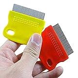 Topbeu 2PCS Pet Dog Cat Flea Combs Fine Teeth Grooming Tool