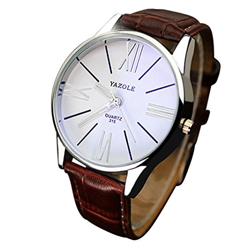 Gotd Sport Digital Wrist Watch for Men Casual Glass Analog Quartz Leather Band Strap Wholesale Luxury Fashion Casual Luminous (Brown)