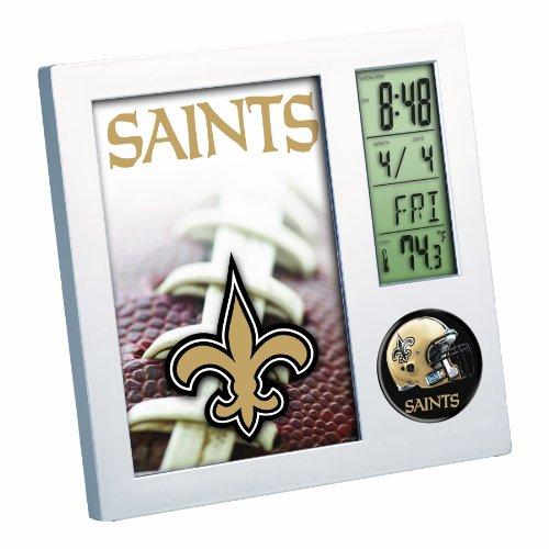 WinCraft NFL New Orleans Saints Digital Desk Clock