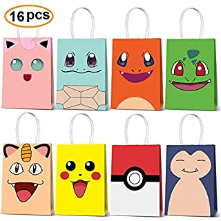Theme Birthday Party Paper Gift Bag For Birthday Party Decorations Party Favor Goody Treat Candy Bags Kids Adults Birthday Party Supplies-16 Piece