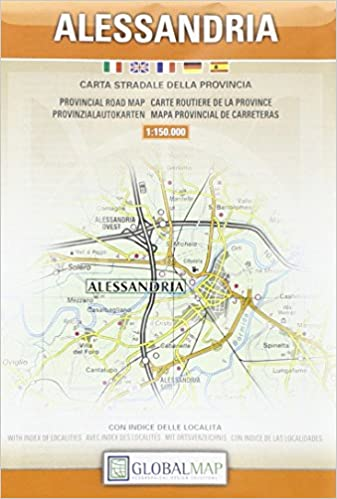 Alessandria Italy Map.Alessandria Province Italy Lac Provincial Road Maps Amazon Co Uk