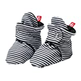Zutano Baby Girls' Candy Stripe Bootie, Black, 12 Months