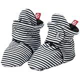 Zutano Unixex Baby Candy Stripe Bootie, Black, 6M (3-6 Months)