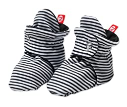 Zutano Baby-Girls Infant Candy Stripe Bootie, Black, 6 Months