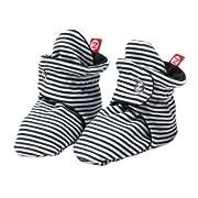 Zutano Unixex Baby Candy Stripe Bootie, Black, 12 Months