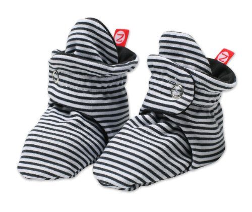 Zutano Unixex Baby Candy Stripe Bootie, Black, 12 Months (Zutano Socks)