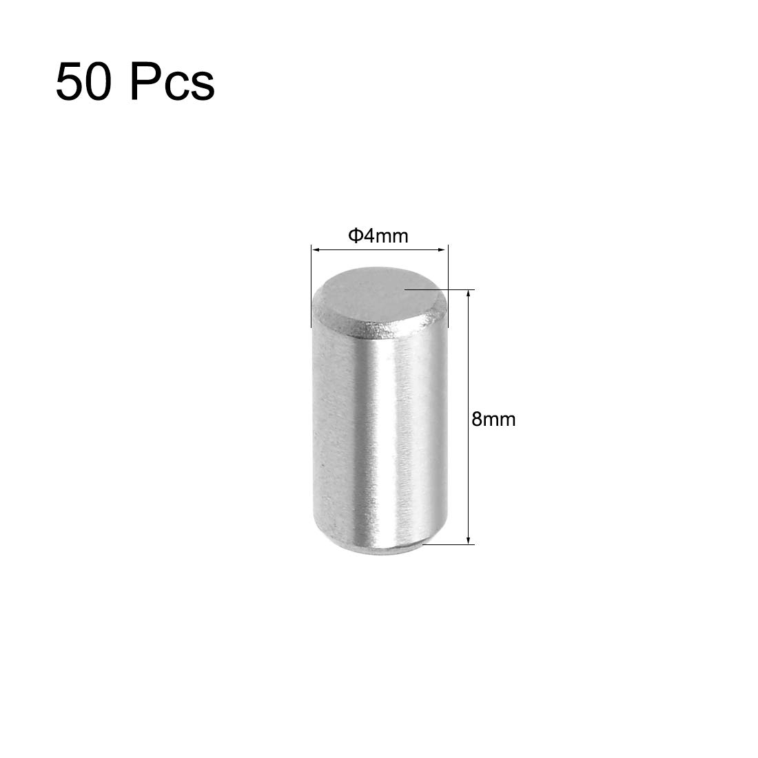 sourcing map 100pcs 2.5mm x 14mm Pasador 304 Estante de Acero Inoxidable Pin Elementos de sujeci/ón