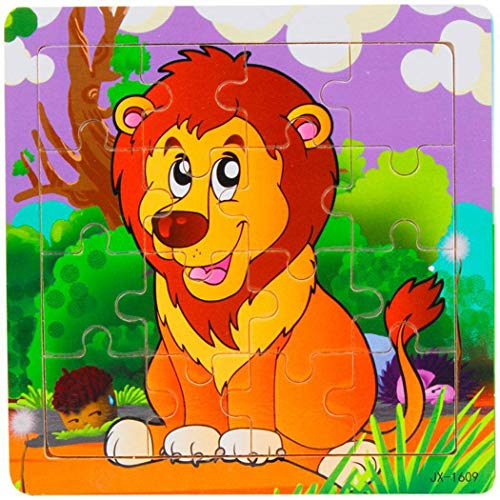 Lanbter Kids Wooden Various Pattern Puzzles Toys Early Educational Learning Toys Pegged Puzzles from Lanbter