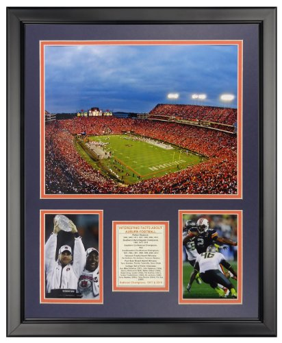 Legends Never Die Auburn University Jordan-Hare Stadium Framed Photo Collage, 16