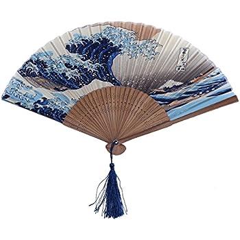 amazon com amajiji 8 27 hand crafted japanese style folding fan