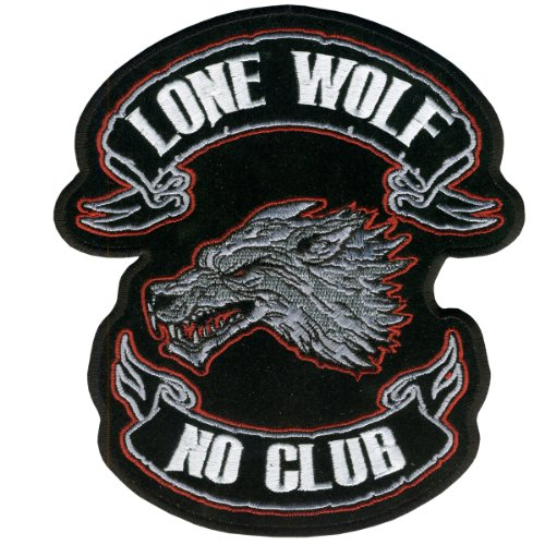 Hot Leathers Lone Wolf Embroidered Patch (4' Width x 4' Height)
