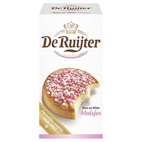 De Ruijter Anise Sprinkles (Muisjes), Pink & White, 280 Gr (9.9 Oz), 1 Box