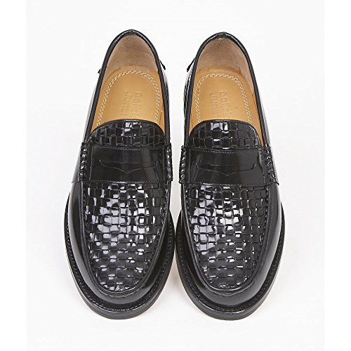 on Junction Slip Uomo 'brummell Loafer Nero Delicious Weave' aXxxF