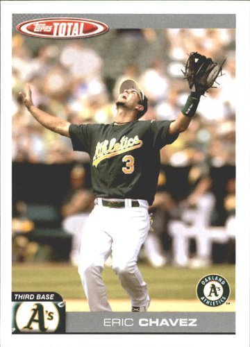 - 2004 Topps Total Team Checklists Baseball Card #TTC21 Eric Chavez