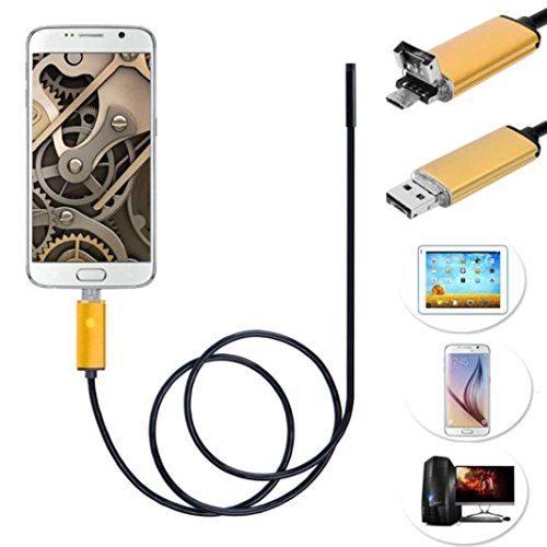 Bestpriceam 2M/5M/10M 6 LED 8mm Lens 2IN1 Android Endoscope Inspection Waterproof Camera (10 M) by bestpriceam