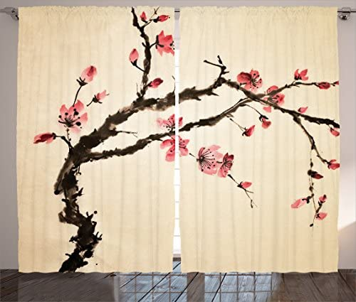 Ambesonne Japanese Curtain
