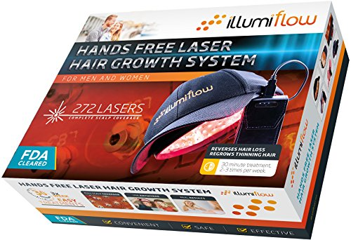 272 Diodes, FDA Cleared Laser Helmet for Thinning Hair Loss Treatment for Men and Women. Light Stimulates Hair Follicles for Thicker Hair Regrowth. by illumiflow (Image #1)