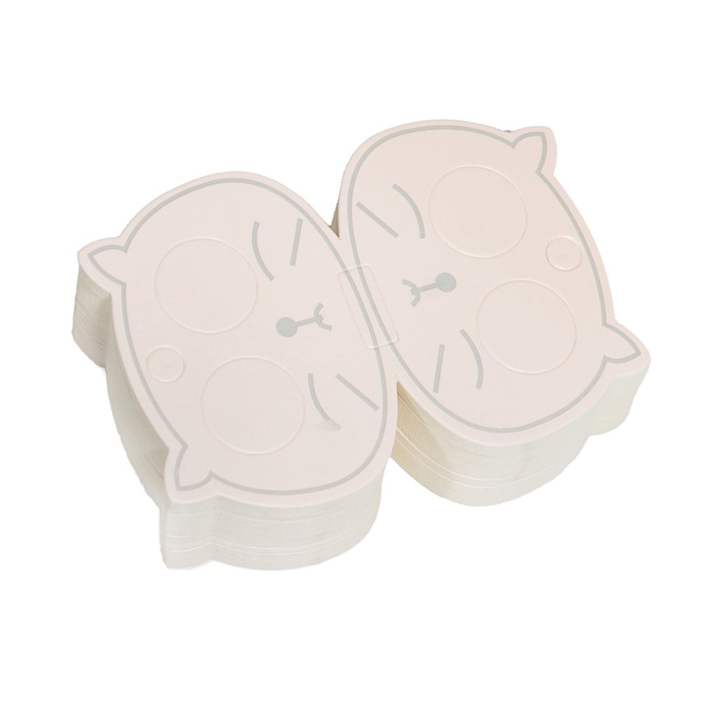 MagiDeal 50 Pieces Lovely Cat Hairpin Paper Cards Hair Clips Jewelry Cardstock Hair Display Cards non-brand