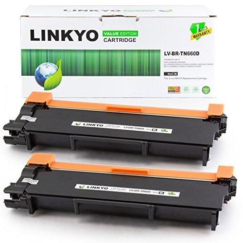 LINKYO-Valueline-Replacement-Brother-TN660-TN-660-TN630-High-Yield-Black-Toner-Cartridge-for-HL-L2340DW-HL-L2320D-MFC-L2700DW-MFC-L2720DW-DCP-L2520DW-2-Pack