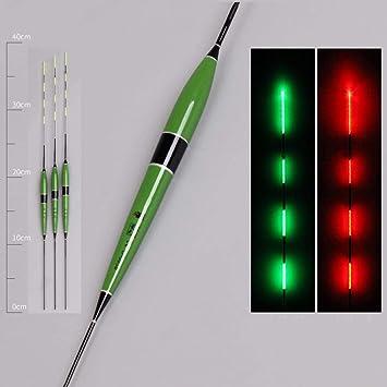 3 Stk Fischen Schwimmer LED Elektrisch Leuchtend Licht Bobber mit Batterie