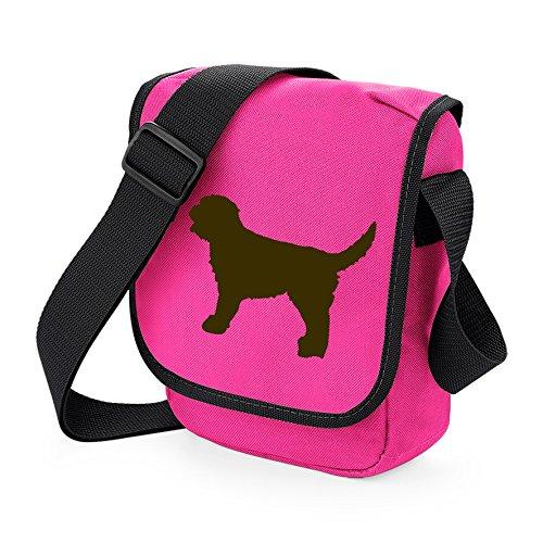 Labradoodle Bag Reporter Bag Shoulder Bag Labradoodle Silhouette Labradoodle Gift Choice of Colours Brown Dog Pink Bag