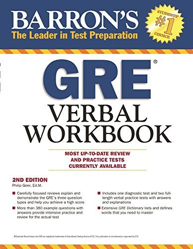 Barron's GRE Verbal Workbook, 2nd Edition