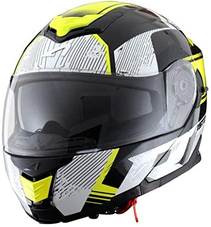 Astone Helmets Casque de moto modulable RT1200 Graphic Touring Casque de moto homologu/é Casque de moto pol yvalent black//white Coque en polycarbonate