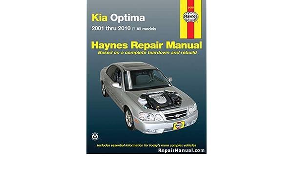 h54050 kia optima 2001 2010 haynes repair manual manufacturer rh amazon com 2001 kia optima repair manual 2004 Kia Optima Repair Manual