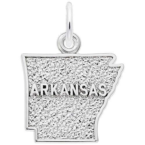 (Rembrandt Charms Arkansas Charm, Sterling Silver)