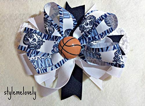 UNC Tarheels Baby Girl Boutique Bow Crocheted Headband- Fits newborn- adult