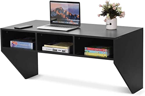 Black Wall Mounted Floating Desk